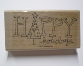 Stampin Up Wood Mounted Rubber Stamp Set