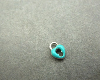 heart lock turquoise, locket charm, living locket, floating locket,