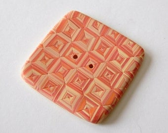 Large Square Polymer Clay Sewing Button, 1-1/4 inch button