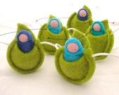 Caterpillar Children's Necklace waldorf toy leaf necklace NCB1, G1, T1