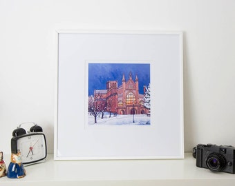 Winchester by Cathedral Light - Studio Print