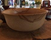 Large Hard Maple Bowl 15 Inch Diameter