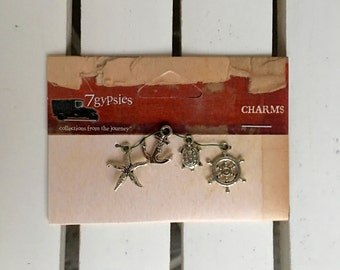 7 gypsies charms, Maritime, vintage, for scrapbooking, art journaling, card making, embellishment, mixed media, ephemera, paper