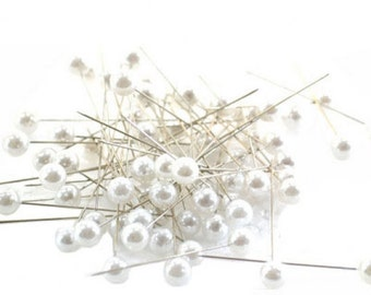 Corsage Pins White Pearl