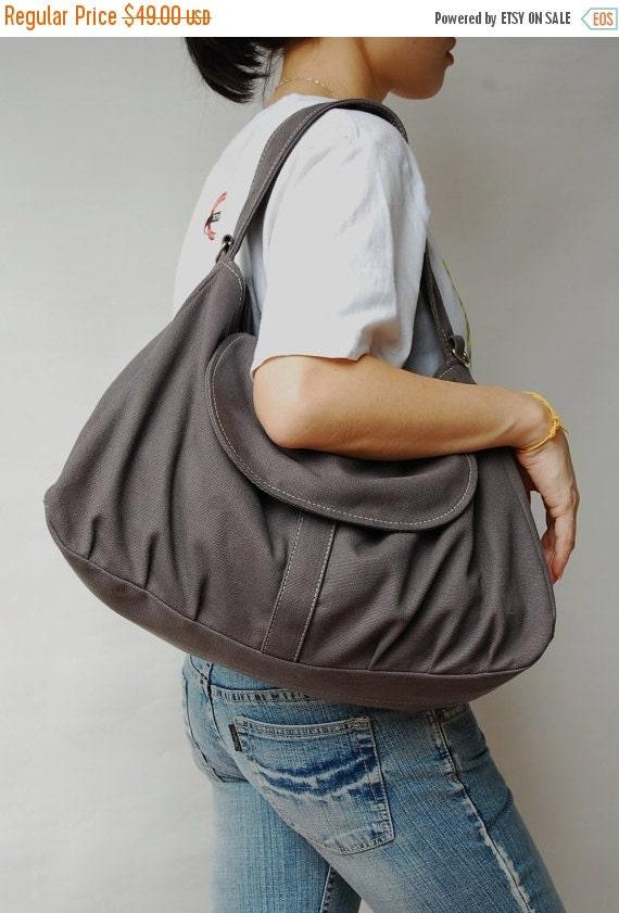 Halloween SALE - 30% Fortuner in Dark Grey (Water Resistant) Purse / Laptop / Messenger Bag / Handbag/ Diaper Bag/Diaper Bag/ School Bag/ Wo