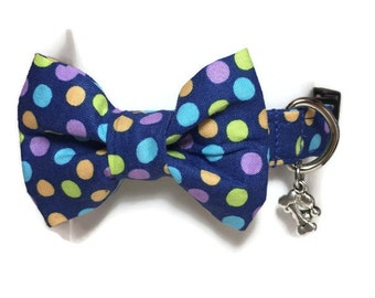 Multicolored Polka Dots Dog Collar sizeExtra Large