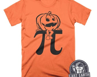 Pumpkin Pi T Shirt Funny Math Shirt Halloween Shirt Funny Pumpkin T Shirt Geek Shirt Mens Nerdy Halloween T Shirts Mens Womens Geek Tees