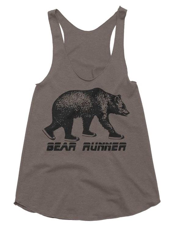 Bear Runner Tri-Blend Racerback Tank - American Apparel Tanktop - XS S M L (Color Options)