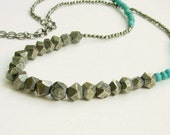 Pyrite turqouise necklace