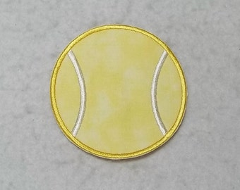 Tennis Racket With Bow Embroidery Design