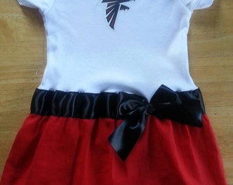 Atlanta Falcons inspired baby girl outfit