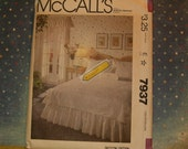 Vintage McCall's Bedroom Pattern of a Bedroom Package including Blue Transfer, 1982, Pattern #7937