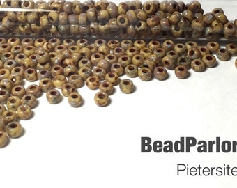 Pietersite Picasso Glass Seed Beads - BP-4517 - Size 6/0 - 28 grams