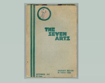 The Seven Arts, September 1917, Literary Journal Padraic Colum, Sherwood Anderson, James Oppenheim, Maxwell Oppenheim, Walt Whitman WWI