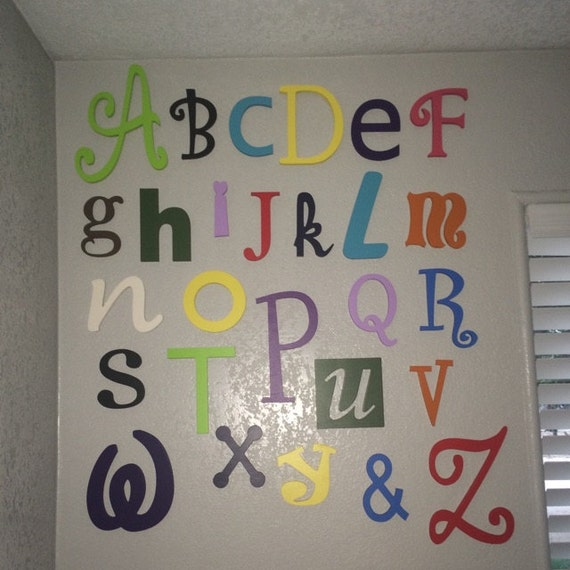 Nursery Decor Wooden Wall Letters : Nursery letters wall hanging decor wooden