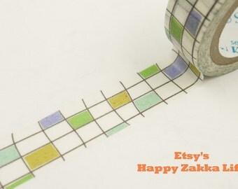 Japanese Washi Masking Tape - Squarely - Shinzi Katoh - 11 yards