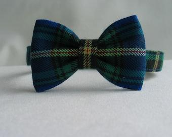 Nova Scotia Tartan Bow Tie, Canadian Tartan Tie, Royal Blue Plaid Bow Tie, Made In Canada Bow Tie, Tartan Little Boy Tie, Tartan Adult Tie