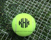 Monogram/Personalized Tennis Ball