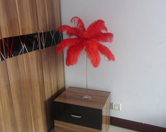 100 feathers Red Ostrich Feather Plume for Wedding centerpieces,