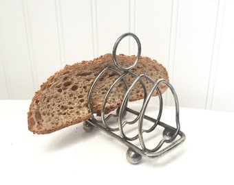 Silver Toast Rack - Vintage Silver Serving - Toast Holder - Silverplate Silverplated Wedding Table Brunch