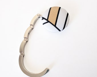 Makeforgood Handbag Hook, Purse Hook Hanger, Bag Hook, Folding Purse Hanger in Pink