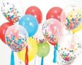 Balloons with Confetti Tissue Tassel Baker's Twine Birthday Balloons Balloon Bouquet Kit Balloon Confetti Tissue Confetti Tissue Tassels