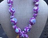Lavender watercolor teething and breastfeesing necklace