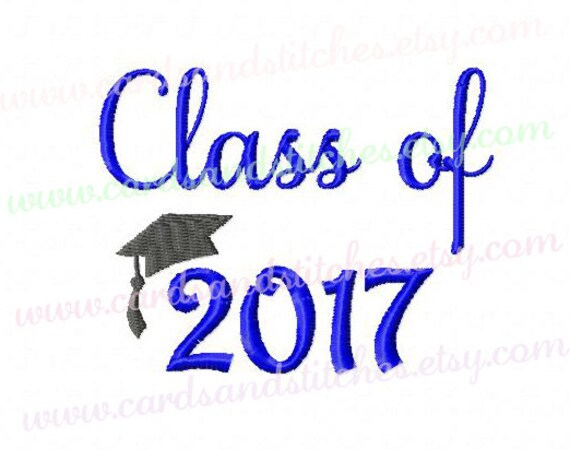 class of 2017 embroidery graduation hat 2017 embroidery