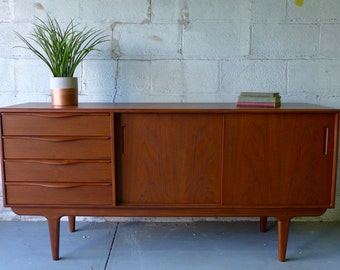 Mid Century Modern styled DANISH CREDENZA media stand