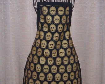 Gold C3PO Star Wars Adult Apron C3PO in gold adult apron