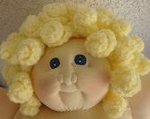 1984? Cabbage Patch Soft Sculpture - Yellow Popcorn Stitch
