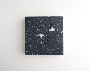 Winter Flying Geese Painting - 5 x 5