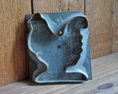 Antique Rooster Cookie Cutter Primitive Handmade