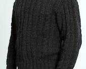 SALE Black Sweater unisex XL mens XL womans  knit