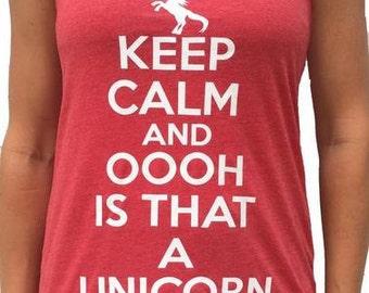 SoRock's Keep Calm Unicorn Women's Triblend Tank