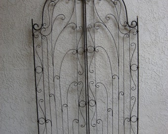 Spanish Revival Wrought Iron Garden Gate Circa 1920's