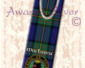 Metal bookmark with high quality printed original images. Clan MacLaren badge and Tartan on high quality metal bookmark.