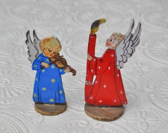 Antique wooden Christmas figurines.
