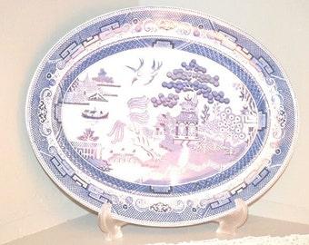 Vintage Johnson Bros Blue Willow Platter