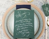 Hand Lettered Menu - Party Calligraphy! Wedding Calligraphy!