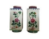HOLD Chinoiserie Mid 20th Century Famille Rose Vases, Pair