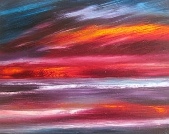 Oil Painting by Edward Bowie 'Unforgiving Skies'