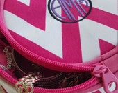 Jewelry Travel Case with customized monogram, Jewelry Organizer - 3 colors to choose from.