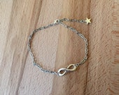 Infinity anklet/ silver infinity ankle bracelet/ chain anklets/ stainless steel chain anklet/ beach jewelry/ silver star charm