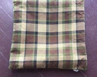 Brown Westfalia Plaid Pillow Cover