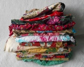 1kg Fabric Craft Supply Floral Chintz Ditsy Vintage Grab Bag Mixed Color size Lot