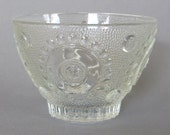 Vintage Glass Candy Dish Glass Serving Dish Glass Bowl Jewelry Dish Candle Holder Housewares