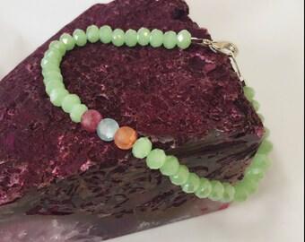 Green Beaded Bracelet Spellbound Custom Blessing Bracelet By Dovemacob