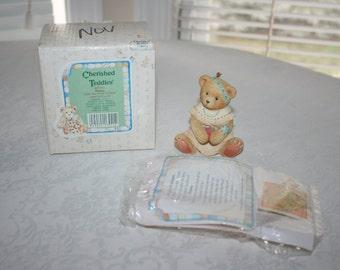 Vintage Cherished Teddies Winona Little Fair Feather Friend Indian Thanksgiving 1994 Original Box Paperwork