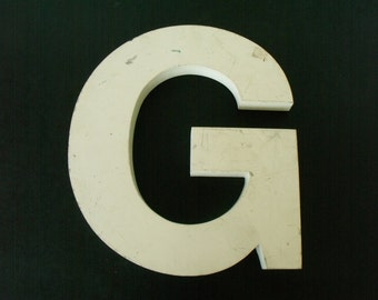 Large Letter G Metal Initial Sign Large Wall Decor Heavy Helv 12